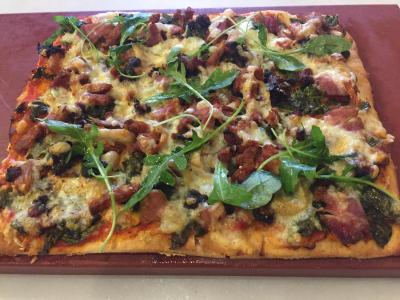 Pizza del Cafe Alambique